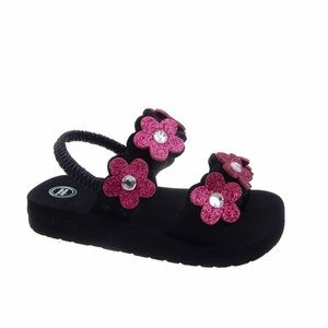Brand new sparkly flower flip-flops size 5/6 youth